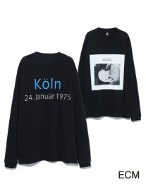 【SALE/20%OFF】ADAM ET ROPE' 〈KEITHJARRETT〉LONGSLEEVEPHOTOT-shirt アダムエロペ カットソー カットソーその他 ブラック ホワイト【送料無料】