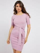 (W)Rib Belted Dress