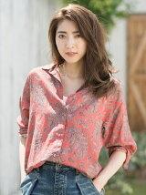 ペイズリープリント3wayBOYSシャツ