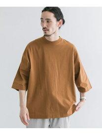 【SALE/50%OFF】URBAN RESEARCH TECHルーズTシャツ アーバンリサーチ カットソー Tシャツ ブラウン ホワイト グリーン