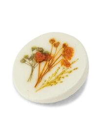 【SALE/20%OFF】studio CLIP 陶器ライクフラワーブローチ スタディオクリップ アクセサリー ブローチ/コサージュ ホワイト