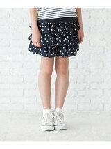 花柄ティアードスカート(インナーパンツ付)