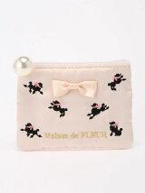 プードル刺繍ティッシュポーチ