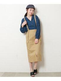 【SALE/52%OFF】frames RAY CASSIN サス付カーゴスカート レイカズン スカート 台形スカート/コクーンスカート ベージュ カーキ