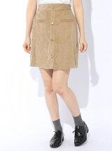 コーデュロイ前ボタンスカート