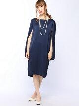 flexin/(W)シェル型ワンピースドレス 二重パールネックレス