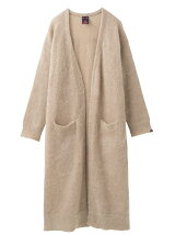 MOHAIR KNIT LONG CARDIGAN