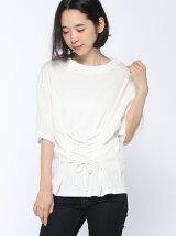 mitis/ウエストレースアップTシャツ/mitis/AW