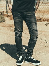 BORN FREE GARAGE CRASH STRETCH DENIM SLIM JEANS