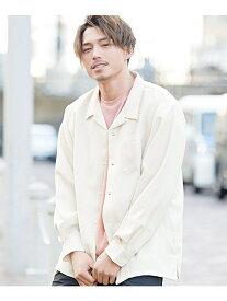 CavariA CavariA日本製ビッグシルエットオープンカラー長袖シャツ シルバーバレット シャツ/ブラウス【送料無料】