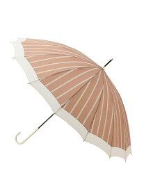 【SALE/15%OFF】ViS 【紫外線防止加工】16本骨切り継ぎストライプアンブレラ ビス ファッショングッズ 長傘 ピンク ネイビー