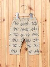 8分丈自転車柄サルエルパンツ/キッズ/夏