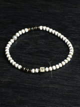 Czech beads mid bracelet white
