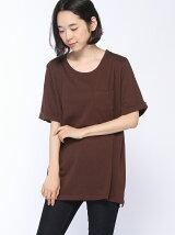 mitis/ポケット付きチュニックTシャツ/ロンT/長袖/mi