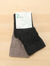 (W)2足セッレース風デザイン付きソックス・靴下