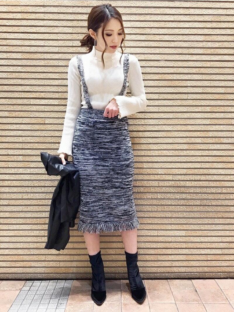 【SALE/30%OFF】EGOIST MIXニットサス付SK エゴイスト スカート【RBA_S】【RBA_E】【送料無料】