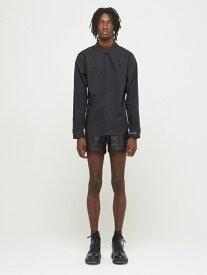 DRESSEDUNDRESSED Longpointcollar Shirt シーナウトウキョウ シャツ/ブラウス 長袖シャツ ブラック【送料無料】