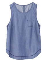 LIGHTWEIGHT DENIM TANK TOP