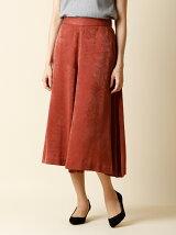 【秋の新作】《INED》シャイニーワイドスカート