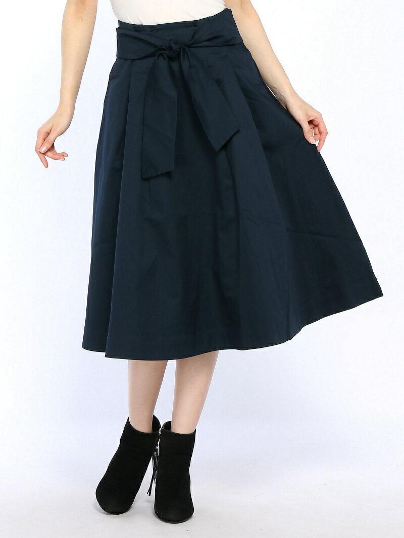YEVS supply (W)タック使い共ベルト使いフレアーSK イーブス サプライ スカート【送料無料】