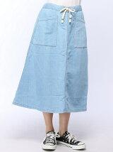 (L)アウトボケットデニムスカート