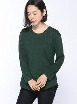 mitis/ポケット付き●ラウンドチュニックTシャツ/ロンT