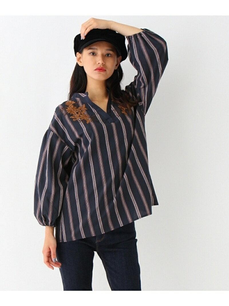 【SALE/60%OFF】OZOC オリエンタル刺しゅうシャツ オゾック シャツ/ブラウス【RBA_S】【RBA_E】