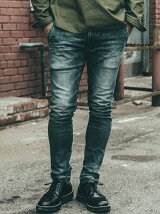 BORN RUDE GARAGE USED JAPANEASE SELVEDGE DENIM TAPERED JEANS