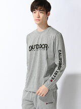 【OUTDOOR PRODUCTS(アウトドア プロダクツ)】袖プリントロングTシャツ