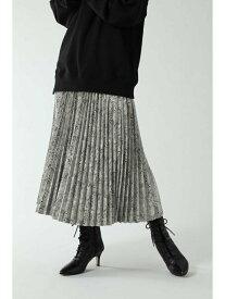ROSE BUD ロング丈プリーツスカート ローズバッド スカート スカートその他 グレー ブラウン シルバー【送料無料】