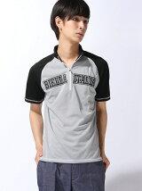 (M)ハーフジップTシャツ