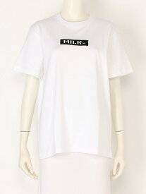 MILKFED. SS TEE EMBROIDERED BAR ミルクフェド カットソー【送料無料】