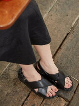 (W)LULU CROSS BACK-STRAP SANDALS-LEATHR