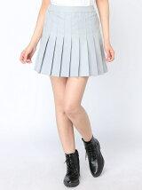 【WEGO】【BROWNY STANDARD】(L)無地プリーツミニスカート