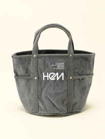HeM (W)アシェット M コーデュロイ ST-247-02 ヘム ショップ バッグ トートバッグ グレー ネイビー レッド【送料無料】
