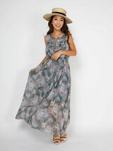 resort flower maxi dress