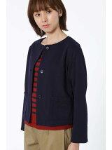 タック編みピンチェック羽織ジャケット