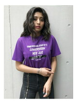EMBROIDERY MESSAGE ロゴTシャツ