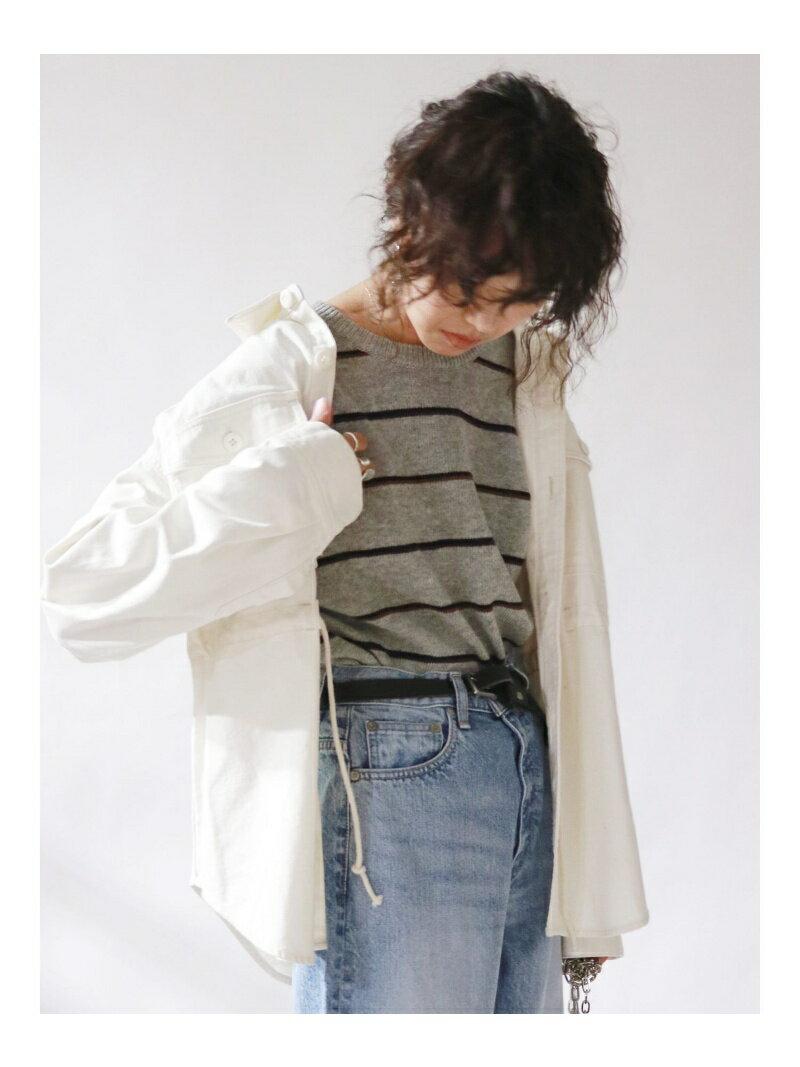 【SALE/30%OFF】ウエストデザインミリタリーシャツ アングリッド シャツ/ブラウス【RBA_S】【RBA_E】【送料無料】