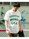 【SALE/55%OFF】ITEMS ロゴプリント製品染めTシャツ アーバンリサーチアイテムズ カットソー Tシャツ ホワイト レッド ピンク