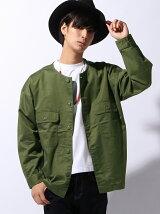 (M)ノーカラーファティーグシャツ