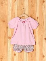 女児巾着小花パジャマ