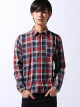 (M)【grn】ビエラチェックシャツ