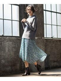 自由区 S 【マガジン掲載】イタリアRATTIフラワープリントスカート(検索番号Q49) ジユウク スカート スカートその他 イエロー【送料無料】