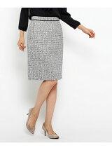 [L]ネオブライトツイードスカート
