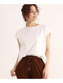 【SALE/40%OFF】OZOC [洗える・26(S)/52(LL)WEB限定サイズ]コットンマチ付カットソー オゾック カットソー Tシャツ ホワイト ブラック カーキ ブラウン