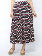 Techichi TERRASSE/デシン幾何学柄ロングスカート