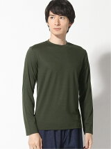 (M)Washable silkydry jersey crewneck