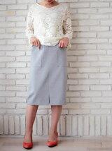 フロントポケットポンチタイトスカート