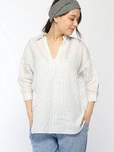 (W)フレンチリネンロングシャツ7S